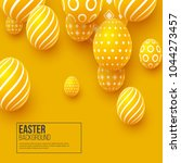 abstract easter yellow... | Shutterstock .eps vector #1044273457