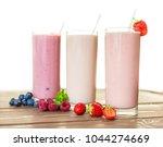 trio of delicious berry... | Shutterstock . vector #1044274669