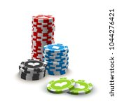illustration online poker... | Shutterstock .eps vector #1044276421