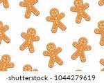 gingerbread man seamless... | Shutterstock .eps vector #1044279619