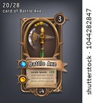 card of fantasy battle axe... | Shutterstock .eps vector #1044282847