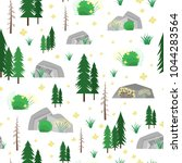 vector seamless pattern with... | Shutterstock .eps vector #1044283564
