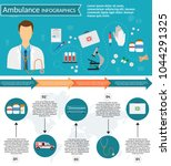 medical infographics with... | Shutterstock .eps vector #1044291325