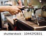coffee brewing methods | Shutterstock . vector #1044292831