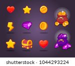 ui icon kit for a games | Shutterstock .eps vector #1044293224