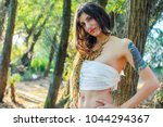 beautiful pagan woman in the... | Shutterstock . vector #1044294367