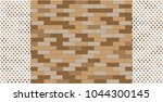 brick wall with a decorative...   Shutterstock .eps vector #1044300145