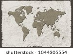 grunge world map.old map of the ... | Shutterstock .eps vector #1044305554