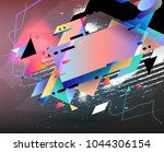 abstract vector shapes.... | Shutterstock .eps vector #1044306154