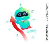 Cute Bot Character . Chatbot...