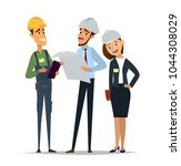 technician and builders and... | Shutterstock .eps vector #1044308029
