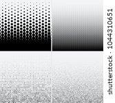 halftone dots on white...   Shutterstock .eps vector #1044310651