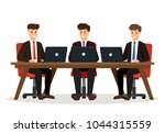business people meeting.... | Shutterstock .eps vector #1044315559