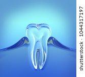 green teeth glass 3d rendering | Shutterstock . vector #1044317197