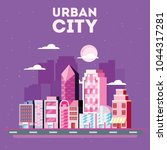 urban city design | Shutterstock .eps vector #1044317281