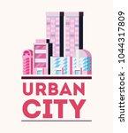 urban city design | Shutterstock .eps vector #1044317809