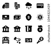 solid vector icon set   coin... | Shutterstock .eps vector #1044321439