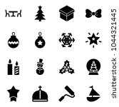 solid vector icon set   cafe... | Shutterstock .eps vector #1044321445