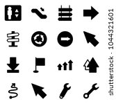 solid vector icon set  ... | Shutterstock .eps vector #1044321601