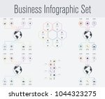 set with infographics. data and ...   Shutterstock .eps vector #1044323275