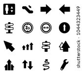solid vector icon set  ... | Shutterstock .eps vector #1044323449