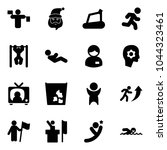 solid vector icon set   traffic ... | Shutterstock .eps vector #1044323461