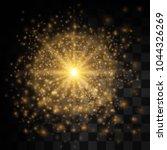 glow light effect. star burst... | Shutterstock .eps vector #1044326269