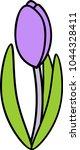 purple crocus bud with long... | Shutterstock .eps vector #1044328411