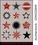 grunge distressed star... | Shutterstock .eps vector #104432849