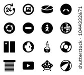 solid vector icon set   24... | Shutterstock .eps vector #1044332671