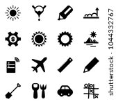 solid vector icon set   sun...