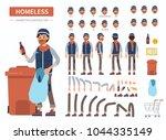 homeless man character... | Shutterstock .eps vector #1044335149