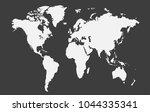 world map vector. | Shutterstock .eps vector #1044335341