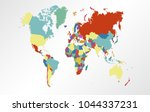 world map vector.   Shutterstock .eps vector #1044337231