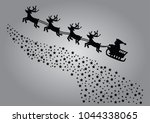 merry christmas and happy new... | Shutterstock .eps vector #1044338065