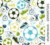 sport sketch equipment soccer... | Shutterstock .eps vector #1044347101