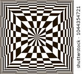 optical illusion  black and... | Shutterstock .eps vector #1044354721
