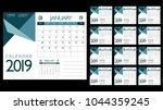 2019 business calendar page... | Shutterstock .eps vector #1044359245