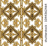 golden baroque ornament | Shutterstock . vector #1044362464