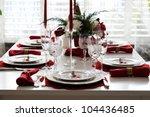 christmas table setting | Shutterstock . vector #104436485