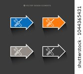 web design of service tools... | Shutterstock .eps vector #1044365431