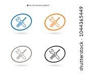web design of service tools... | Shutterstock .eps vector #1044365449