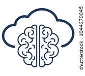 cloud .intellect. vector.... | Shutterstock .eps vector #1044370045