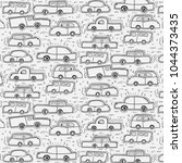 pattern with hand drawn doodle...   Shutterstock .eps vector #1044373435