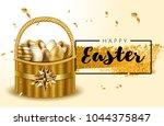 premium luxury vip happy easter ... | Shutterstock .eps vector #1044375847