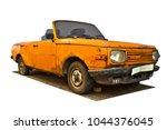 Yellow Rusty Cabriolet Car ...