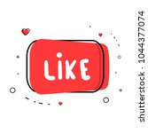 like word. element for graphic... | Shutterstock .eps vector #1044377074