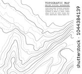 map line of topography.... | Shutterstock .eps vector #1044384139