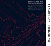 map line of topography.... | Shutterstock .eps vector #1044384151
