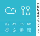 cloud icon with taco  people...